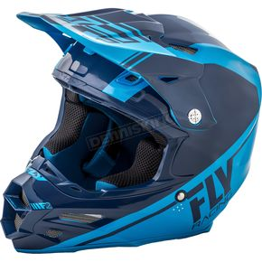 Fly Racing Navy Blue/Lite Blue F2 Carbon Rewire Helmet - 73-41632X