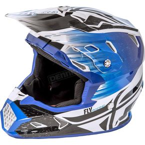 Fly Racing Youth Black/Blue Toxin MIPS Resin Helmet - 73-8523YM