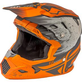 Fly Racing Matte Orange/Khaki Toxin MIPS Resin Helmet - 73-8528M