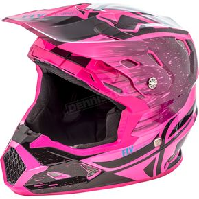 Fly Racing Youth Black/Neon Pink Toxin MIPS Resin Helmet - 73-8529YS