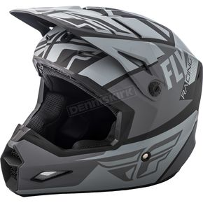 Fly Racing Matte Gray/Black Elite Guild Helmet - 73-8600S