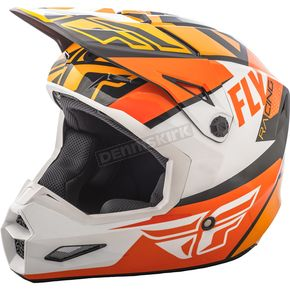 Fly Racing Youth Orange/White/Black Elite Guild Helmet - 73-8608YL