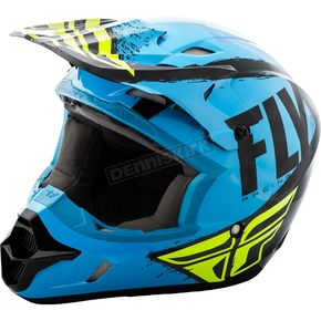 Fly Racing Blue/Black Kinetic Burnish Helmet - 73-3393X