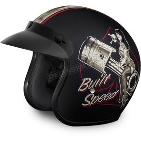 Daytona Built For Speed 3/4 Cruiser Helmet - DC6-BFS-M