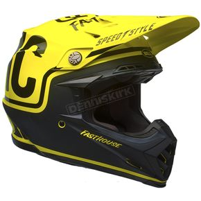 Bell Helmets Fluorescent Yellow/Black Moto-9 Fasthouse Limited Edition Helmet - 7086290