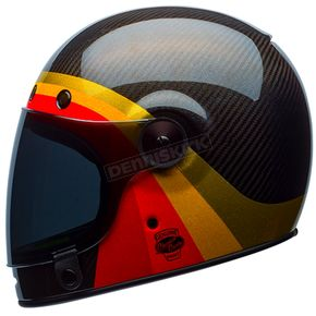 Bell Helmets Black/Red Bullitt Carbon Chemical Candy Limited Edition Helmet - 7086334