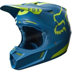 Fox Teal V3 Moth Limited Edition Helmet - 17393-176-L