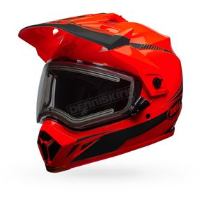 Bell Helmets Orange/Black MX-9 Adventure Snow Torch Helmet w/Electric Shield - 7090650