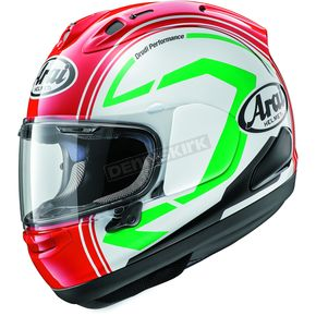 Arai Helmets Red/White Corsair-X Statement Helmet - 807574