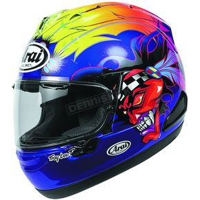 Arai Helmets Blue/Red/Yellow Corsair-X Russell Helmet - 816132