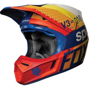 Fox Blue MVRS V3 Draftr Helmet - 19519-002-XL