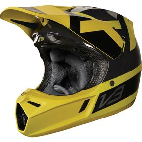 Fox Dark Yellow MVRS V3 Preest Helmet - 19521-547-M