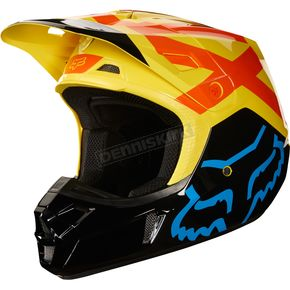 Fox Black/Yellow V2 Preme Helmet - 19527-019-2X