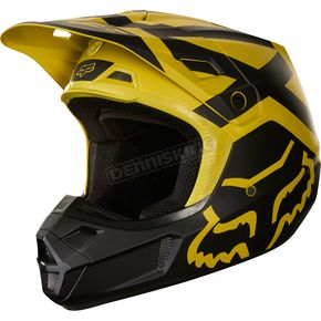 Fox Dark Yellow V2 Preme Helmet - 19527-547-S