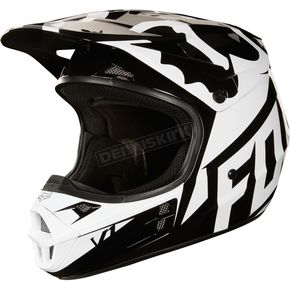 Fox Black V1 Race Helmet  - 19531-001-L