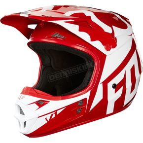 Fox Red V1 Race Helmet - 19531-003-XL