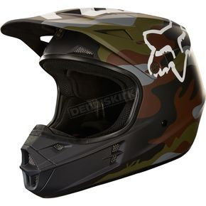 Fox Matte Green Camo V1 Helmet - 20760-031-XL