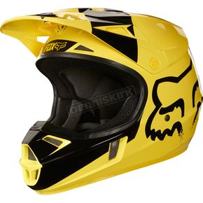 Fox Youth Yellow V1 Mastar Helmet - 19543-005-L