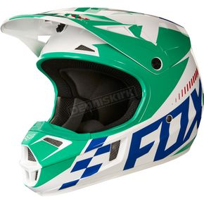 Fox Youth Green V1 Sayak Helmet - 20291-004-L