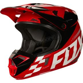Fox Youth Red V1 Sayak Helmet - 20291-003-S
