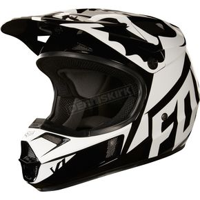 Fox Youth Black V1 Race Helmet - 19541-001-L