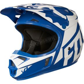 Fox Youth Blue V1 Race Helmet - 19541-002-L
