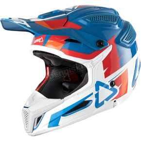 Leatt Blue/White GPX 5.5 Composite V10 Helmet - 1018100142