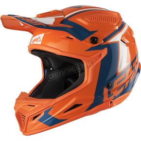Leatt Youth Orange/Denim GPX 4.5 V22 Helmet - 1018200260