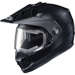 HJC Matte Black DS-X1 Snow Helmet w/Frameless Electric Shield - 011-615