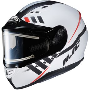 HJC Semi-Flat White/Black CS-R3SN Space MC-10SF Helmet w/Frameless Electric Shield - 037-702