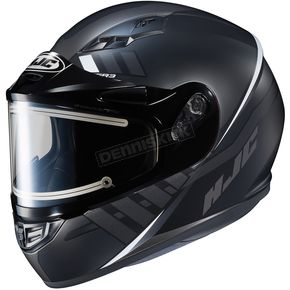HJC Semi-Flat Black/Gray CS-R3SN Space MC-5SF Helmet w/Frameless Electric Shield - 037-755