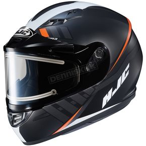 HJC Semi-Flat Black/White CS-R3SN Space MC-7SF Helmet w/Frameless Electric Shield - 037-774