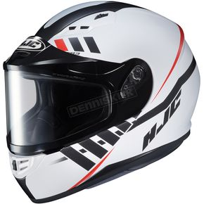 HJC Semi-Flat White/Black CS-R3SN Space MC-10SF Helmet w/ Dual Lens Shield - 137-704