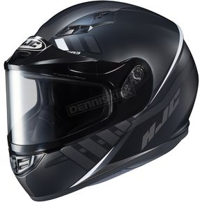 HJC Semi-Flat Black/GrayCS-R3SN Space MC-5SF Helmet w/Dual Lens Shield - 137-756