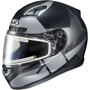 HJC Semi-Flat Black/Gray CL-17SN Boost MC-5SF Helmet w/Frameless Electric Shield - 153-754