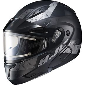 HJC Semi-Flat Black/Gray CL-Max2SN Friction MC-5SF Helmet w/Framed Electric Shield - 197-752