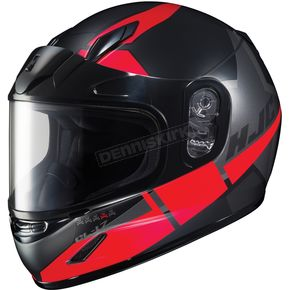 HJC Youth Semi-Flat Black/Red CL-YSN Boost MC-1SF Helmet w/Framed Dual Lens Shield  - 237-712