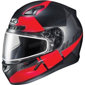 HJC Semi-Flat Black/Red CL-17SN Boost MC-1SF Helmet w/Frameless Dual Lens Shield - 853-717
