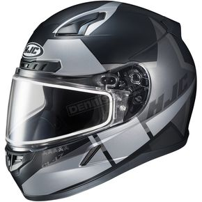 HJC Semi-Flat Black/Gray CL-17SN Boost MC-5SF Helmet w/Frameless Dual Lens Shield - 853-751