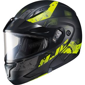 HJC Semi-Flat Black/Hi-Viz CL-Max2 Friction MC-3HSF Helmet w/Framed Dual Lens Shield - 997-739