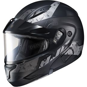 HJC Semi-Flat Black/Gray CL-Max2 Friction MC-5SF Helmet w/Framed Dual Lens Shield - 997-751