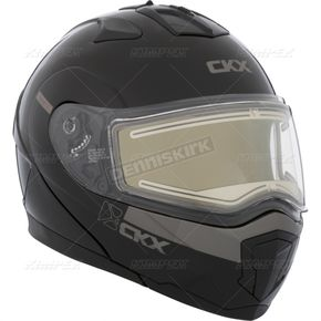 CKX Black Tranz 1.5 RSV Modular Snow Helmet w/Electric Shield - 503725#