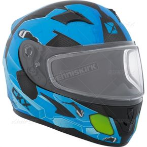 CKX Youth Matte Blue/Black/Green RR610Y Cosmos Snow Helmet - 506212#