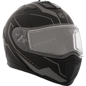 CKX Matte Black/Gray Tranz 1.5 RSV Vision Modular Snow Helmet w/Electric Shield - 508725#