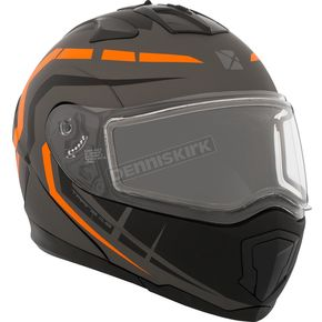 CKX Matte Black/Gray/Orange Tranz 1.5 RSV Scorpion Modular Snow Helmet w/Electric Shield - 508766#