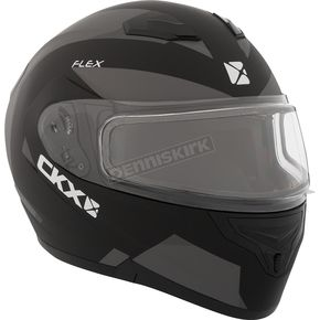 CKX Gray Flex RSV Control Snow Modular Helmet w/Electric Shield - 508935#