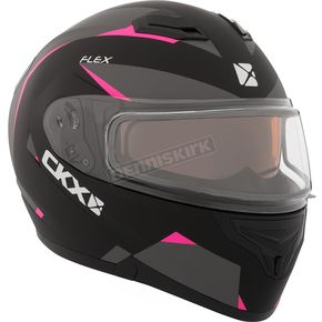 CKX Pink Flex RSV Control Snow Modular Helmet w/Electric Shield - 508955#