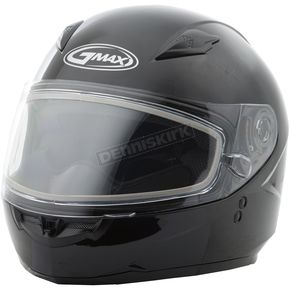 GMax Youth Black GM49Y Snowmobile Helmet w/Dual Lens Shield - G2490021