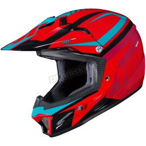 HJC Youth Red/Blue CL-XY II Bator MC-1 Helmet - 294-913