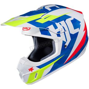 HJC Blue/White/Green CS-MX II Dakota MC-23 Helmet - 328-234